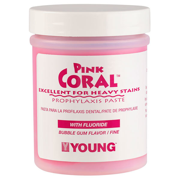 Pink Coral Bubble Gum Coarse Prophy Paste With Fluoride