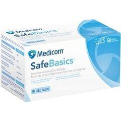 Bigger thumb safebasics procedure earloop masks level 3 blue 50 box medicom 2151 ql3o60