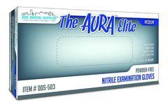 Bigger thumb aura elite p f nitrile premium flex exam gloves m case 20 cs 100 bx dds qwz2a0