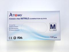 Bigger thumb atomo dental premium qualit nitrile gloves  m