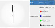 Big thumb microdontusamu 2202cmultiusediamondbursroundendtaper165858isofig0.14mmheaddiametercoarsegrain22mmlength packof10