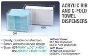 Big thumb acrylic bib   c fold towel dispensers